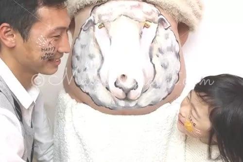 マタニティペイント:羊(干支)02